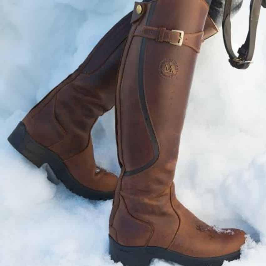 Brune termoridestøvler