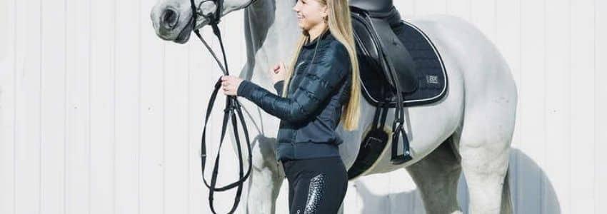 Blå vinter ridejakke