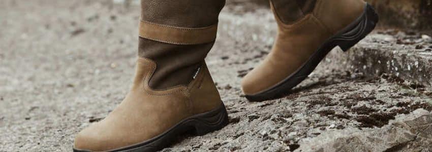 Brune vinter ridestøvler