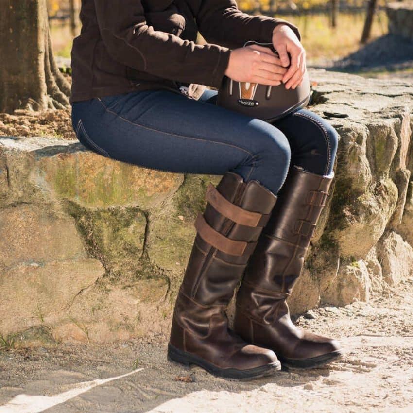 Mørkebrune vinter ridestøvler